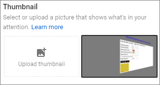 How to set Custom YouTube video thumbnails