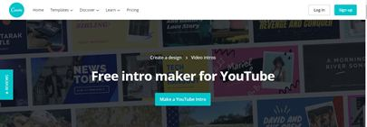 Canva YouTube intro maker