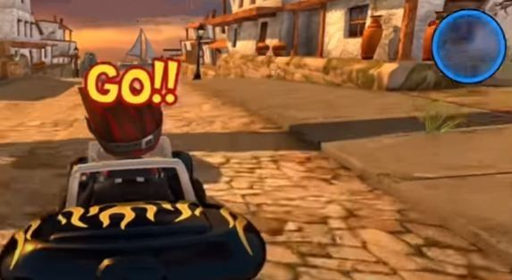 Jump Start in Beach Buggy Racing Game
