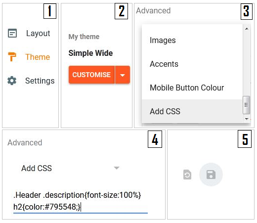 Steps to add custom CSS in new blogger interface