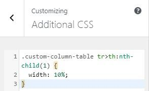 CSS Style for change Table Block width