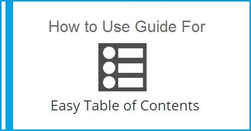 How to Use Easy Table of Contents Plugin in WordPress